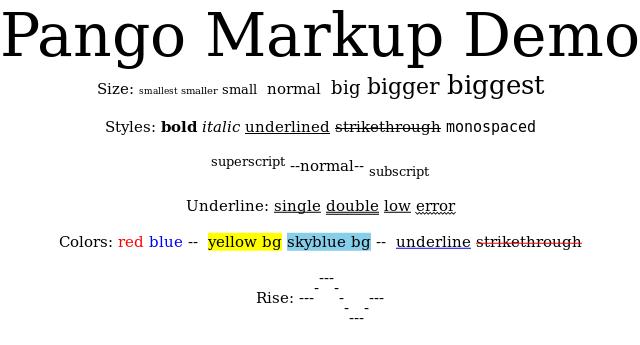 Text Handling -- IM v6 Examples